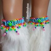 Rainbow Kandi Garters
