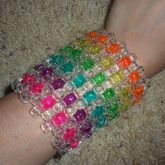 Rainbow With Clear Cuff