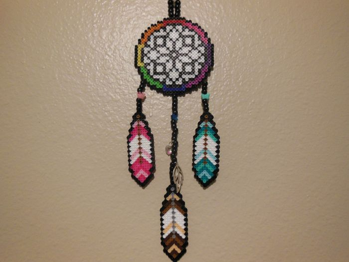 Beaded Dream Catchers Patterns Complete Perler Dream Catcher by LadyRaveicorn Kandi Photos on 19