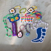 Some Singles, Perler Necklaces, And My First Attempt At A Peyote Stitch