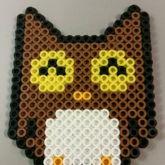 Happy Brown Owl Perler
