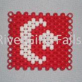 Turkey Flag Kandi Cuff Bracelet By RivetGiRL Falls