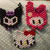 Hello Kitty, Kuromi, And Melody Charms
