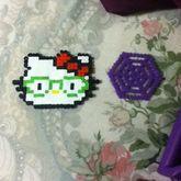 Nerd Hello Kitty And Spider Web