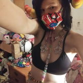 New Kandi Mask Plus Letter Star Harness