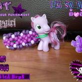 Purple Pony Cuff