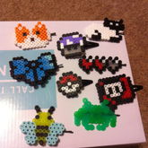 Perler Bead Hair Clips