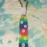 Rainbow N Flower Kandi Tie