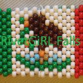 Mexico Flag Kandi Cuff Bracelet By RivetGiRL Falls