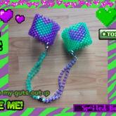 Heart Handcuffs Purple And Green