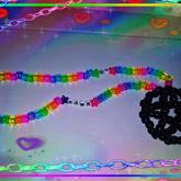Rainbow Pentagram Necklace