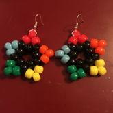 rainbow star earrings :p
