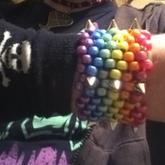 Kandi Spiked Metelic Rainbow Cuff