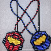 Red Vs. Blue Necklaces