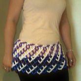 Blue, Black, Purple, & White Plaid Kandi Mini Skirt (shown On Model)