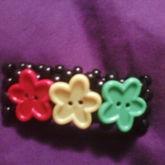 Rasta Flower Button Cuff