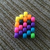 Rainbow Diagonal Pacman Ghost 3