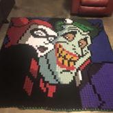 Harley Quinn And Joker Take A Selfie  - Crochet Blanket