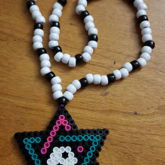 6 Pointed Star Perler Necklace
