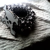Skull And Bones With Silver Spikes C: