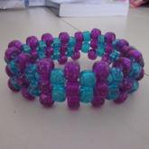 Glitter Blue And Purple Cuff