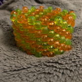 Green And Orange Spiral Stripe Cuff