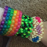 Rainbow, Creeper, And Heart Cuffs