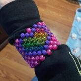 Small Rainbow Heart Cuff