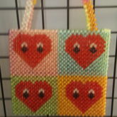 Heart Beaded Bag