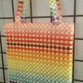 Rainbow Beaded Purse
