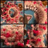 Pink Skull Pinwheel 3D