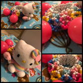 Pastel Cotton Candy Hello Kitty 3D