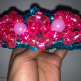 Pink & Blue 3D UFO/Cage Cuff
