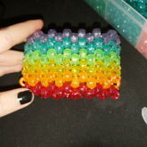 Multi Stitched Rainbow Cuff! And It's Also My First Multi Stitch Cuff