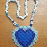 Heart Of The Ocean Perler Necklace