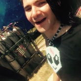 Skrillex Wearing The Kandi Alien Necklace I Made Him.