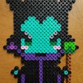 Chibi Maleficent Perler