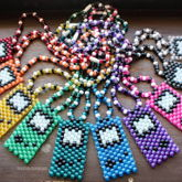 Glittery Gameboy Necklaces