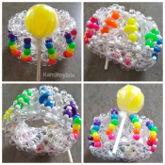 Lemon Lollipop Kandi Cuff