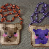 Peanut Butter & Jelly Couples Necklaces