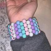 Multi Stitch Pastel Cuff