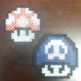 Mario Mushroom Perlers