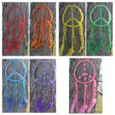 Rainbow Peace Sign Dream Catchers
