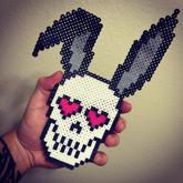 Heart-eyed Bunny Skull
