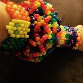 Rainbow Kandi Cuffs
