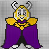 UNDERTALE Asgore Perler Bead Pattern