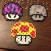 Set Of 8 Mario Mushroom Perlers 3