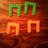 Perlerbead Horseshoes For My Ringtoss Game