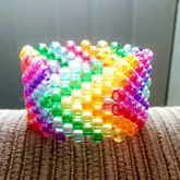 Translucent Rainbow Arrow Cuff