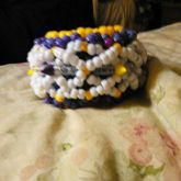 Back Of Purple Yellow Spike Flower Cuff